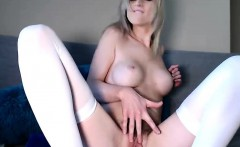 Utility Knife Masturbation With Horny Blonde