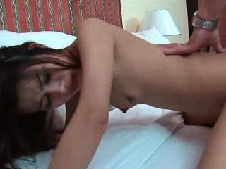 Asian Teen Gets A Gooey Creampie