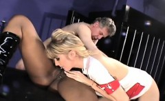Awesome interracial analingus and smothering act