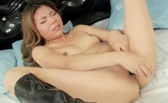 Sliding a hot toy deep in her soaking wet vagina