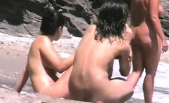Beach nudist babes exposed by hidden cam