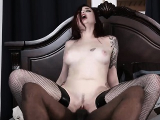 Attractive redhead beauty went black and will never go back