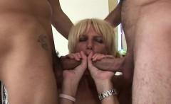 british slut loves double penetration with two men