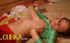 Hot italian shows pink pussy on camera