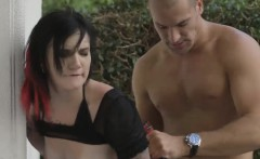 horny husband tired of his boring wife and fucks an emo slut