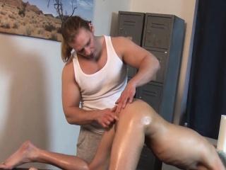 Hot blond twink Ross Mitchell gets good handjob from Tarzan