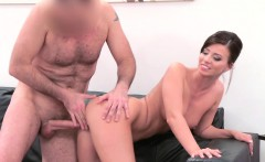 Fake Agent Model Vicky Love takes Cumload on her Great Tits