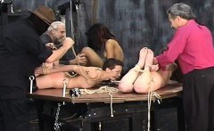 Hot female fucked and stimulated in thraldom