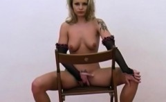 Perfect MILF Pussy On A Chair
