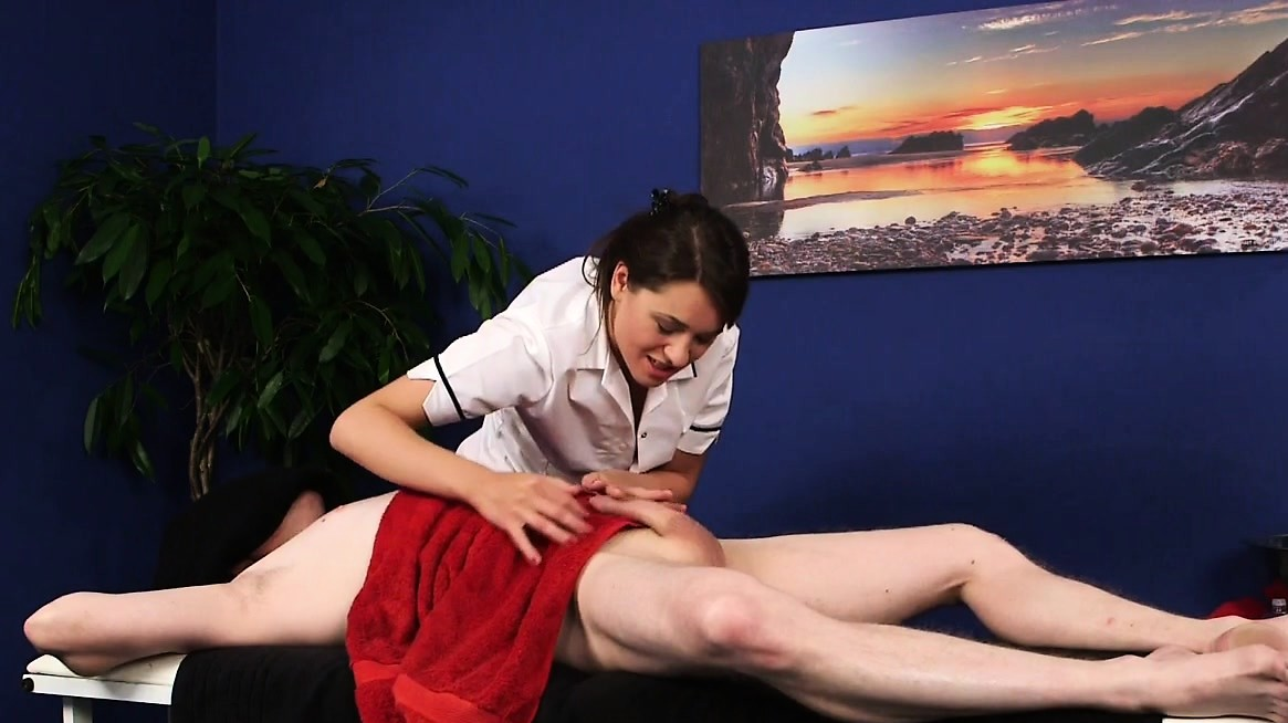 Cfnm Masseuse Wanking Her Clients Cock