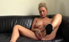 Freaky blonde slut Nova Shields rubbing her horny pussy