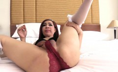 Dirty Redhead Thai Ladyboy Ass Poked With A Huge Cock