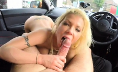 Hot Barbie Sins fucked by driving instructor in the car