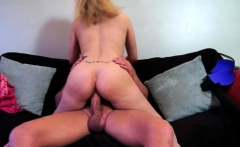 Blonde mature riding on a hard cock