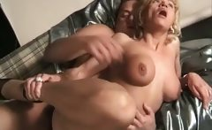 Gorgeous busty mature blonde gets that