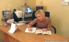 Two robbers caught blonde secretary