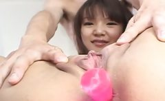 Fingers and toys deep in her asian butt