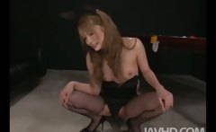 Cute av model Sena Aragaki is showing off a pooltable when