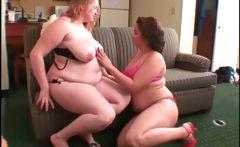 Teen BBW lesbos stripping and kissing sensually