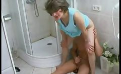 Mature MILF seduce in the shower