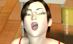 3D hentai bitch suck two black cocks