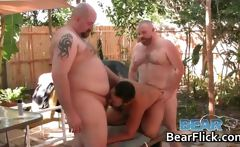 Horny gay bears fucking in the back yard