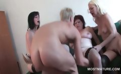 Sexy dude hardcore fucking mature cunts in orgy