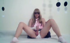 Teenage Crossdresser on Cam!