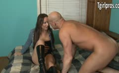 Prostitute Khloe Hart enjoy clients dick
