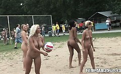 Video showing sexy college chicks being playfull like they