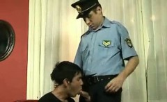 Twinky spy gets anal punishment from horny gay cop