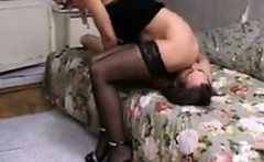Dirty Russian Whore Getting Eaten Out