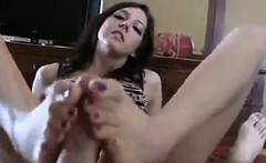 Sister In Law Giving Me A Footjob POV