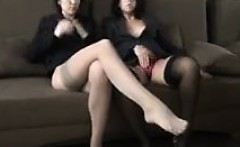 Amateur MILFs In Nylons Being A Tease
