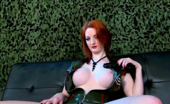 Busty Red Haired Whore On A Hard Dick