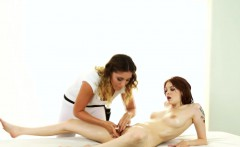 Massage babe gets rimmed