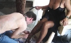 Busty MILF Femdom Gets Her Feet Worshipped