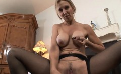 Mature Woman In Nylons Masturbating