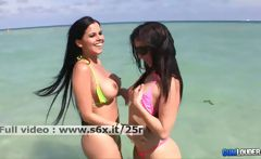 Valerie and Diamond Kitty _ Two babes showing her tits and