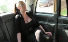 Public taxi fucking with big busty brit mamma