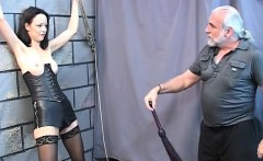 Gorgeous young girl in a bdsm corset is - Fuck her on DOM-M