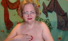 Naughty Grandma Shows Off Her Privates