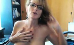 Mature Woman With Glasses Teasing
