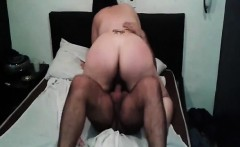 Big ass milf riding a hard cock on the bed