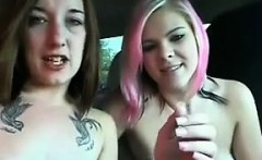 Two Teen Lesbians In A Car