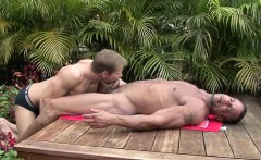 Outdoor blowjob and deep anal pounding