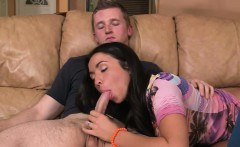 Gorgeous MILF amazing threesome action with teen couple