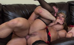 Big tit Ava Devine gets her wet twat nailed and cum on her boobs