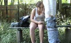 Sexy table fuck within the playground beginners in location
