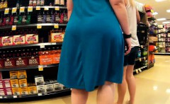 Blue dress butt that is thick shake